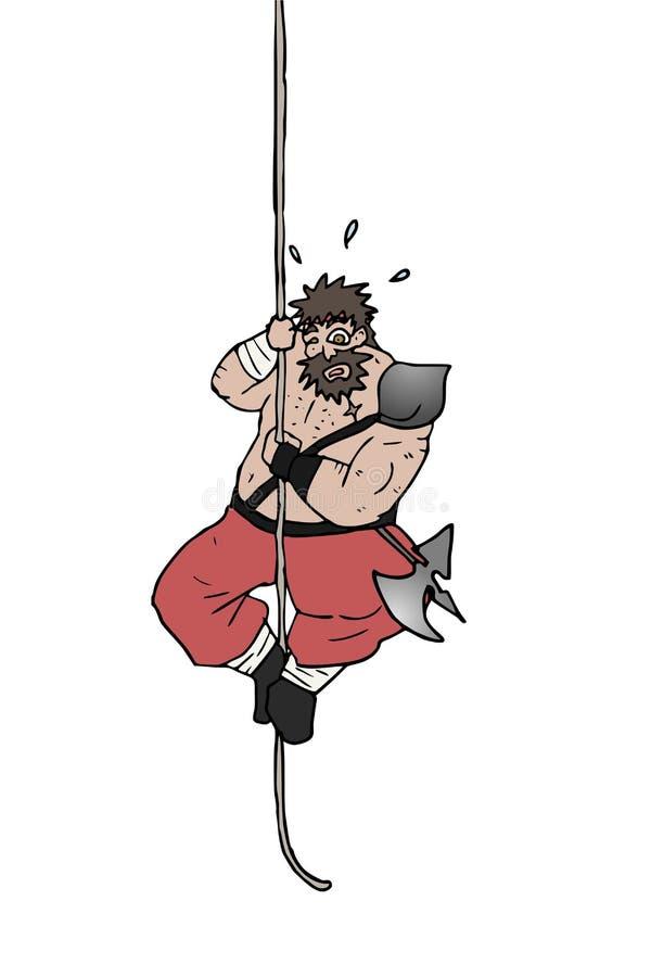 Homem gordo na corda ilustração royalty free