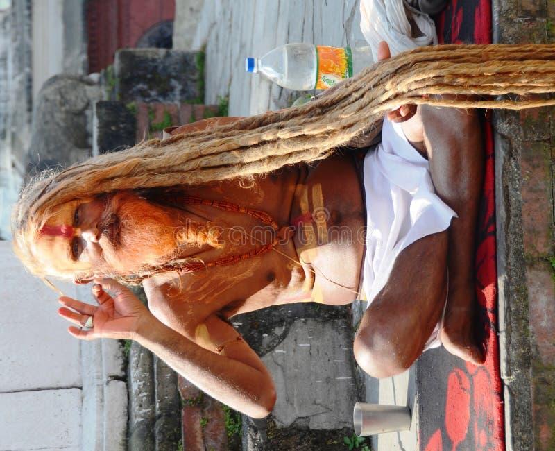 Homem Hindu do templo fotos de stock