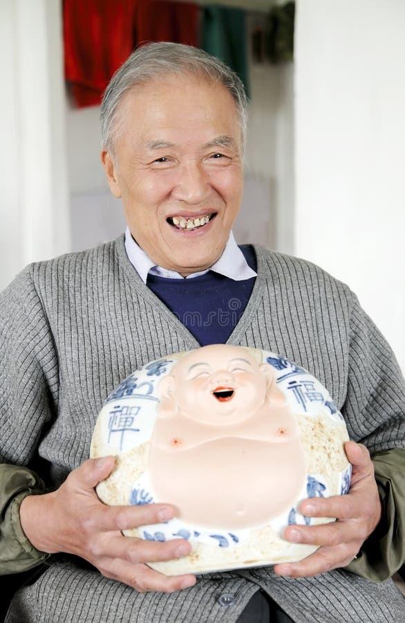 Homem idoso chinês imagens de stock