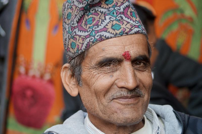 Homem idoso de sorriso fotografia de stock