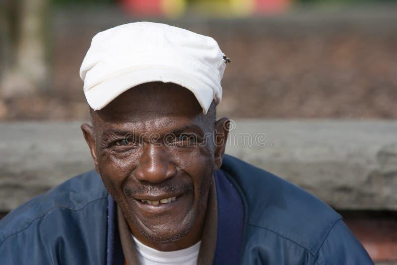 Homem idoso do americano africano fotografia de stock