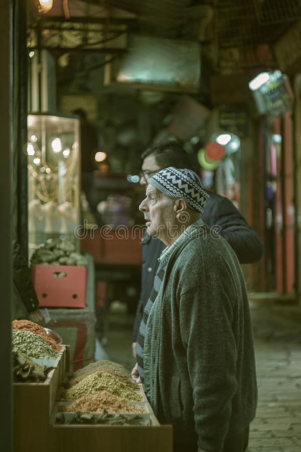 Homem idoso em Jerusalem fotografia de stock royalty free