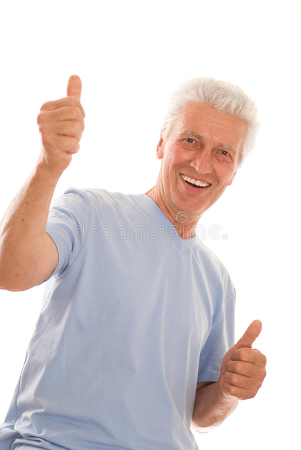 Homem idoso feliz imagem de stock royalty free