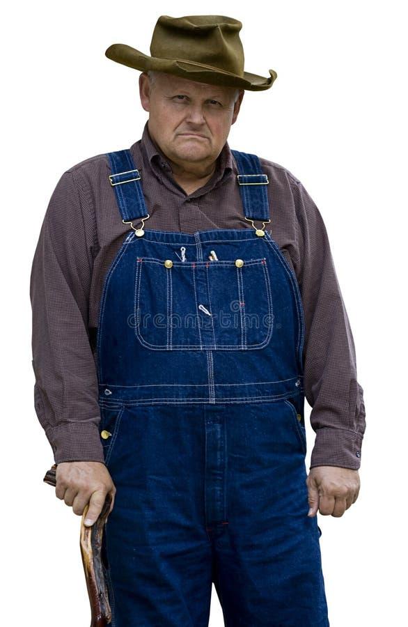 Homem idoso mal-humorado imagens de stock