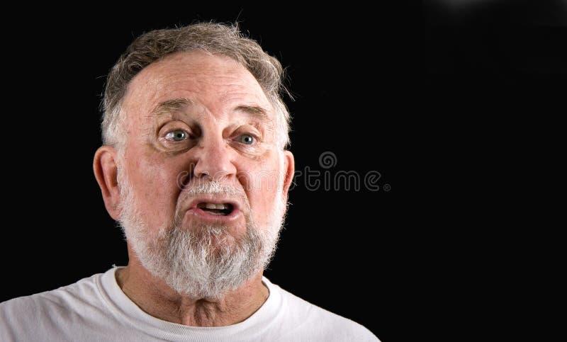 Homem idoso que diz sim fotos de stock royalty free