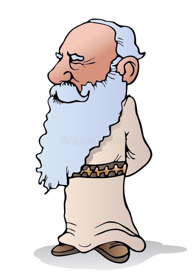 Homem idoso sábio ilustração stock