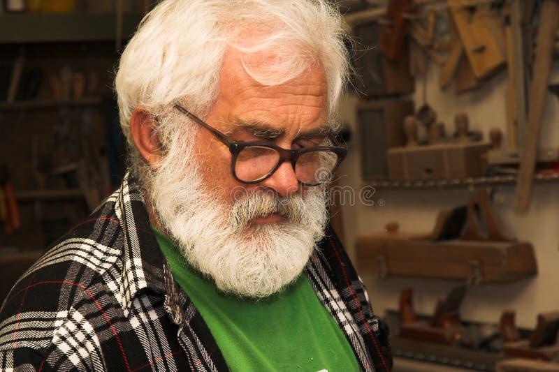 Homem idoso - sénior imagens de stock