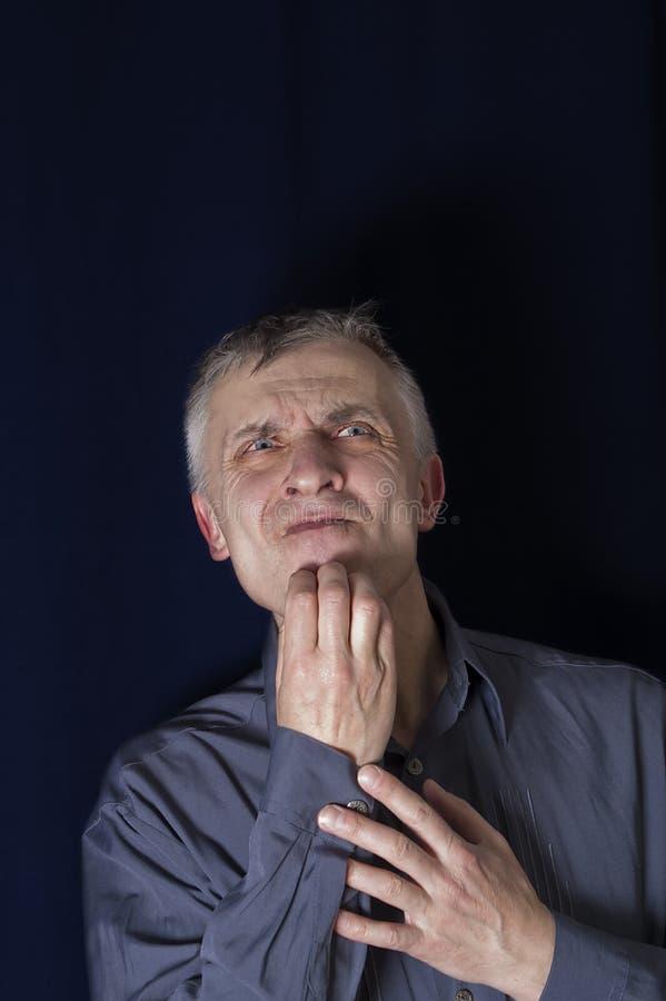 Homem incomodado fotos de stock royalty free
