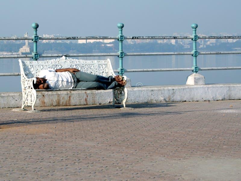Homem indiano desabrigado foto de stock royalty free