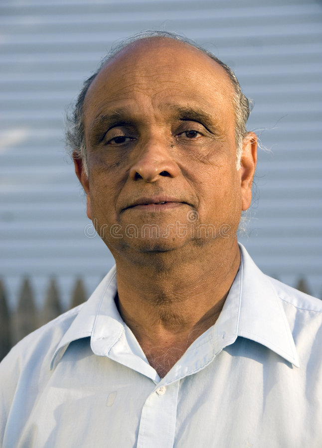 Homem indiano idoso fotografia de stock royalty free