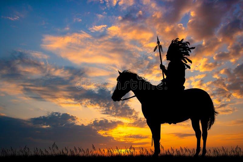 Homem indiano no por do sol fotografia de stock royalty free