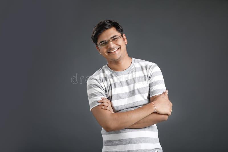 Homem indiano novo foto de stock