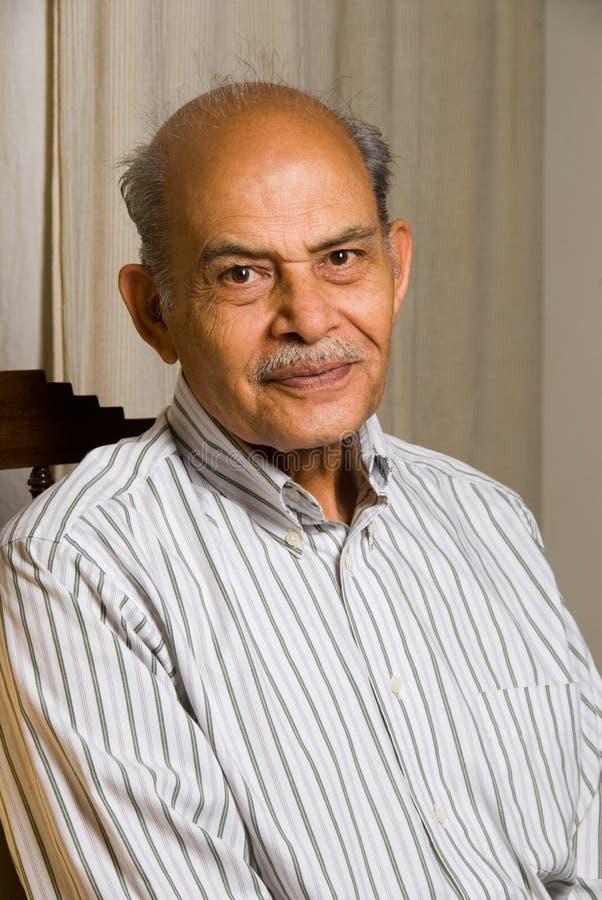 Homem indiano sênior fotografia de stock