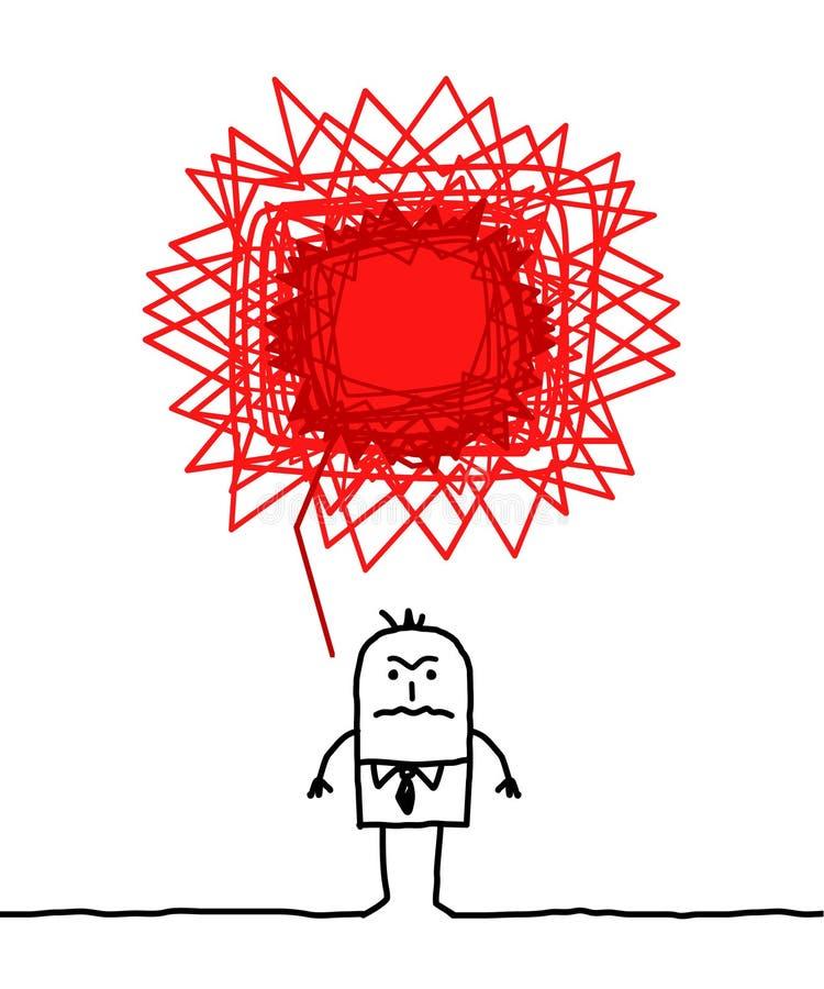Homem irritado ilustração stock