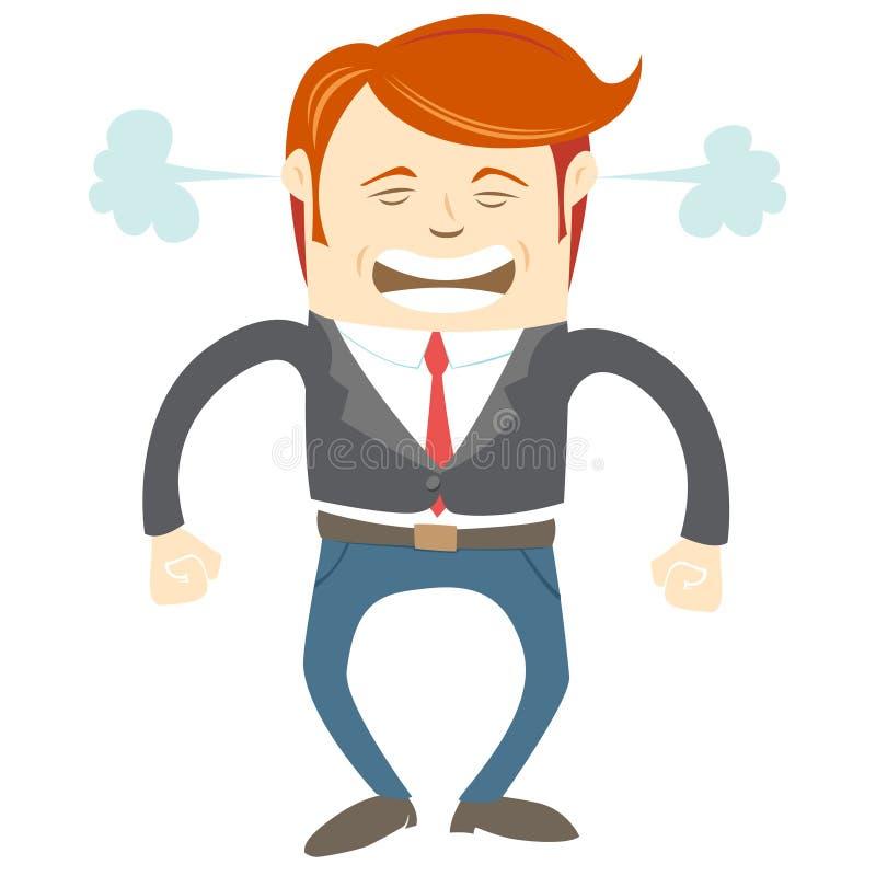 Homem irritado do escritório ilustração do vetor