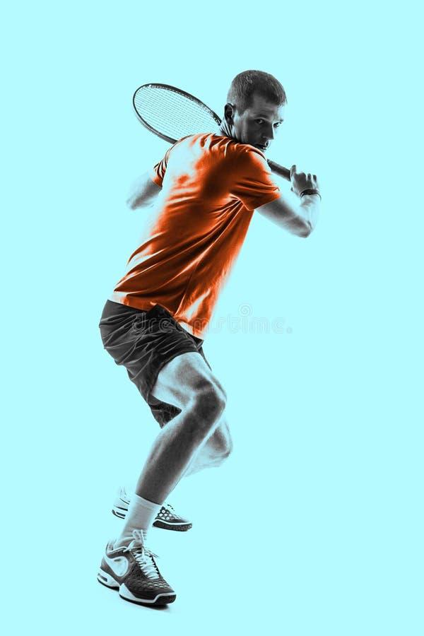 Homem, jogador de tênis fotos de stock