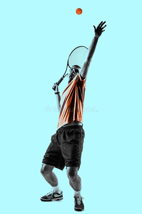 Homem, jogador de tênis fotografia de stock