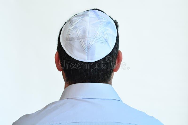 Homem judaico com kippah foto de stock royalty free
