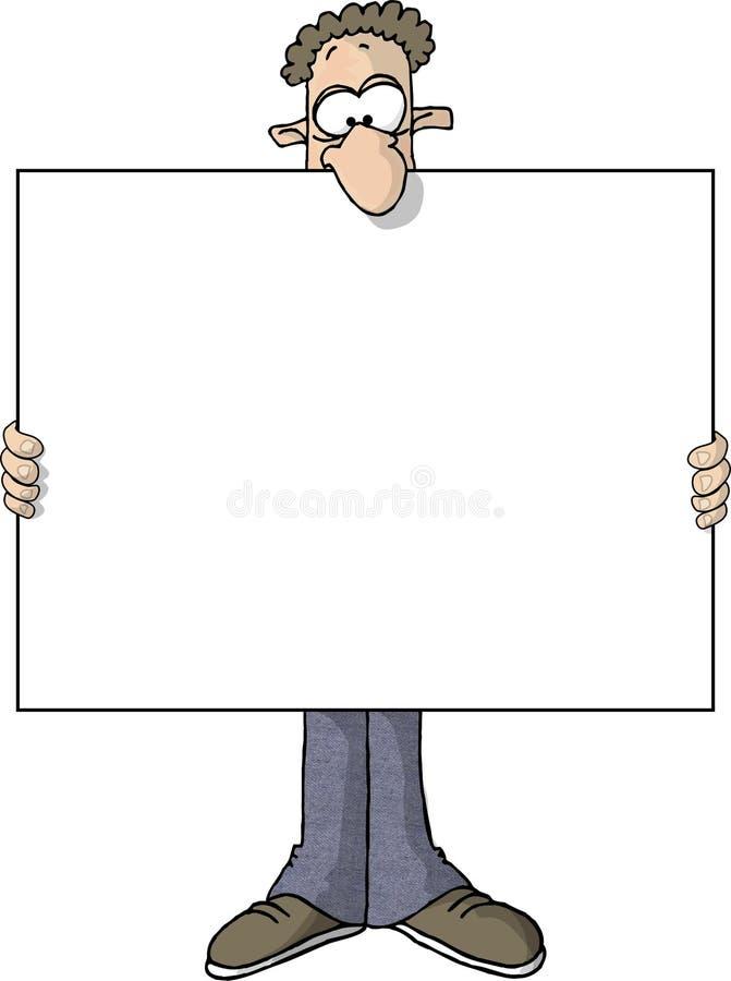 Homem largo do sinal ilustração stock