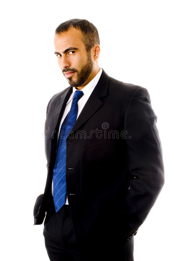 Homem latino-americano em um terno imagens de stock