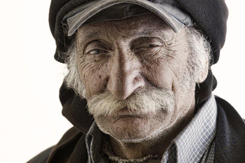 Homem libanês tradicional idoso com bigode imagens de stock royalty free