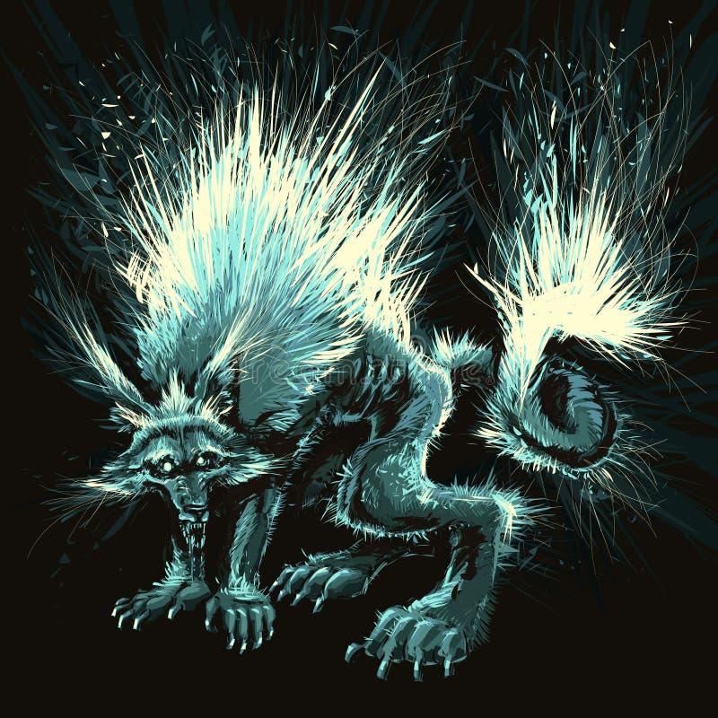 Homem-lobo. ilustração royalty free