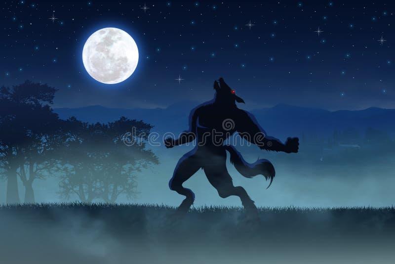 Homem-lobo ilustração royalty free