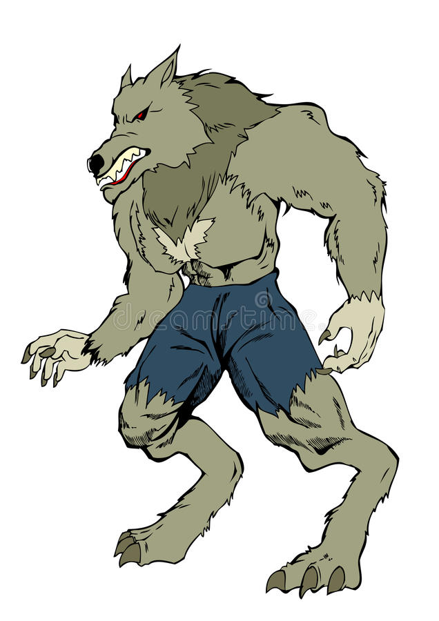 Homem-lobo ilustração do vetor
