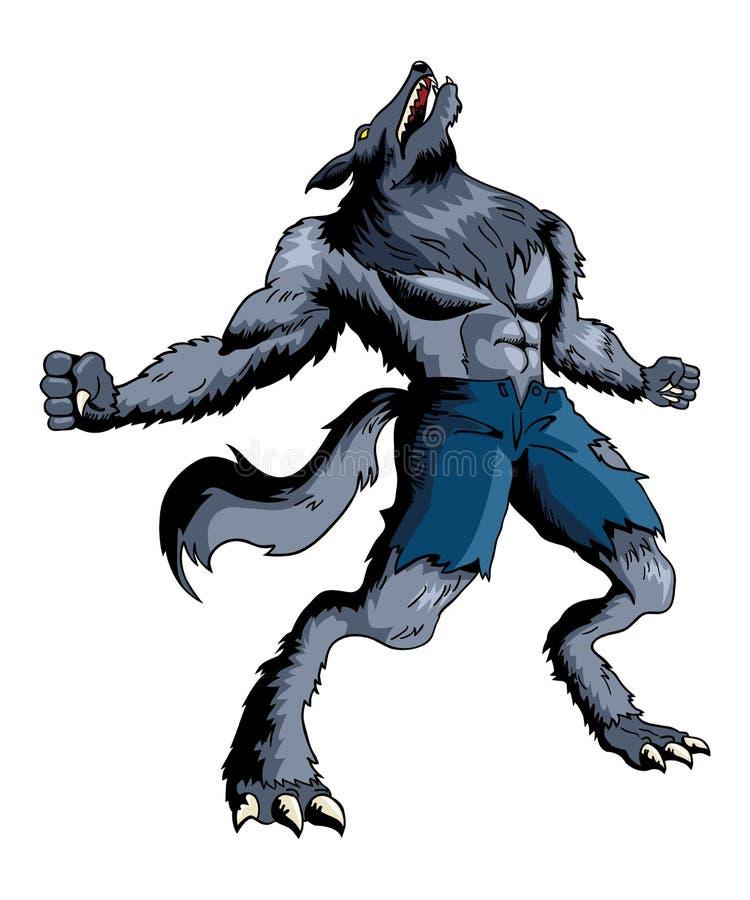 homem-lobo ilustração stock