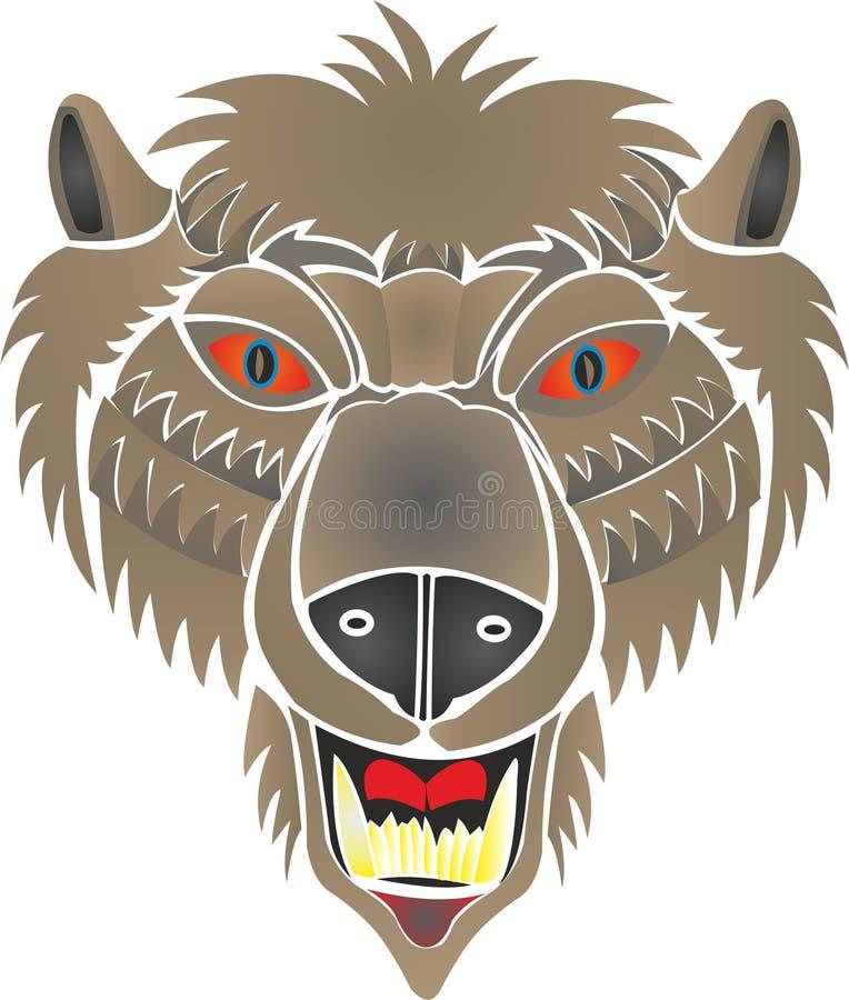 Homem-lobo das hastes do urso ilustração stock