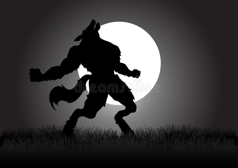 Homem-lobo do urro ilustração royalty free