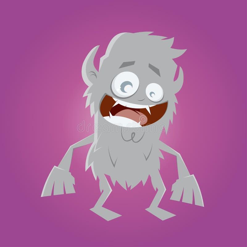 Homem-lobo engraçado dos desenhos animados ilustração royalty free