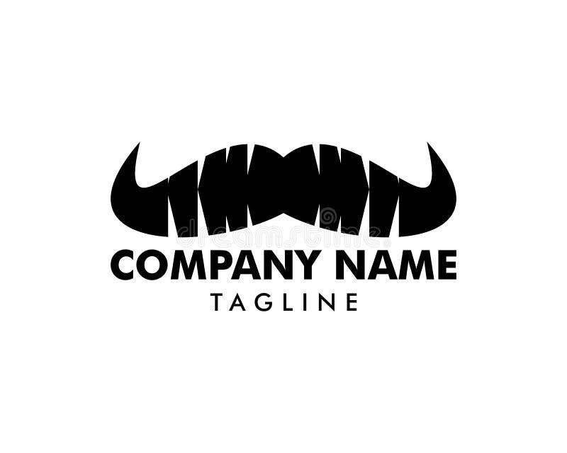 Homem Logo Template Design do bigode ilustração stock