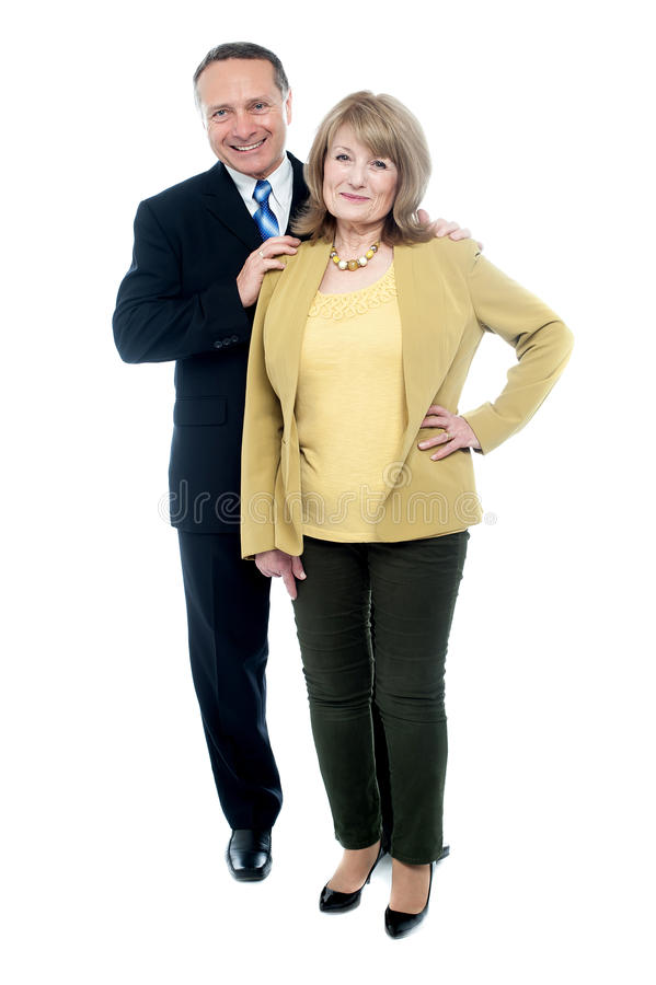 Homem maduro do musiness com uma mulher foto de stock royalty free