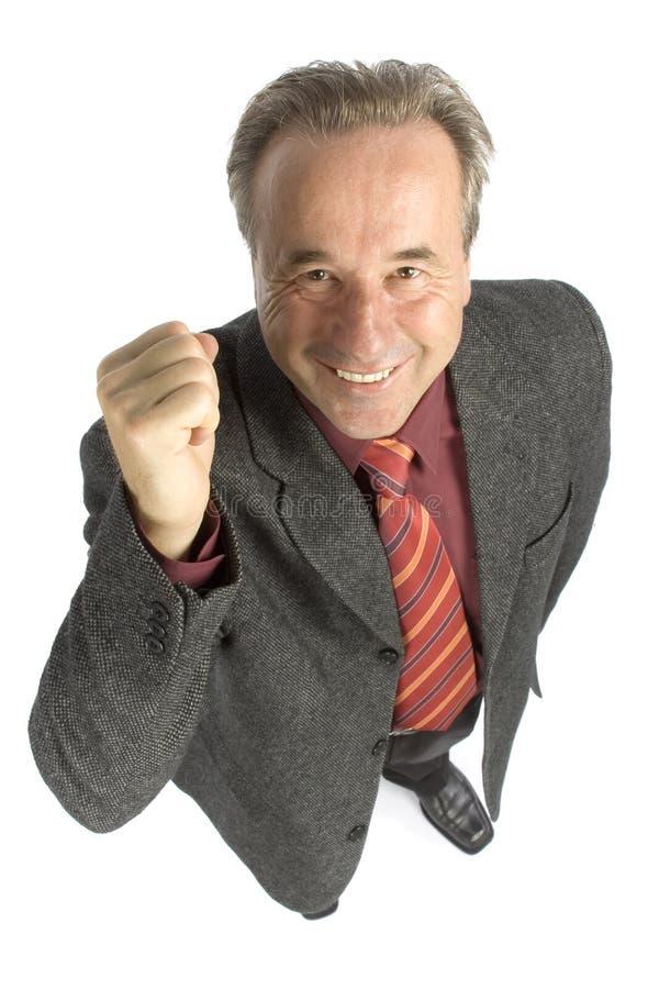 Homem mais idoso ensolarado imagem de stock