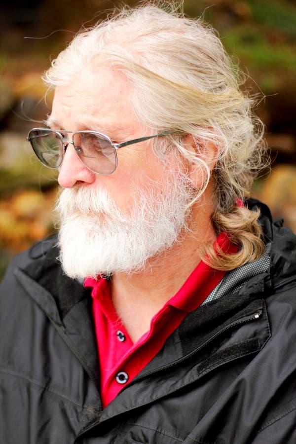 Homem mais idoso pensativo foto de stock royalty free