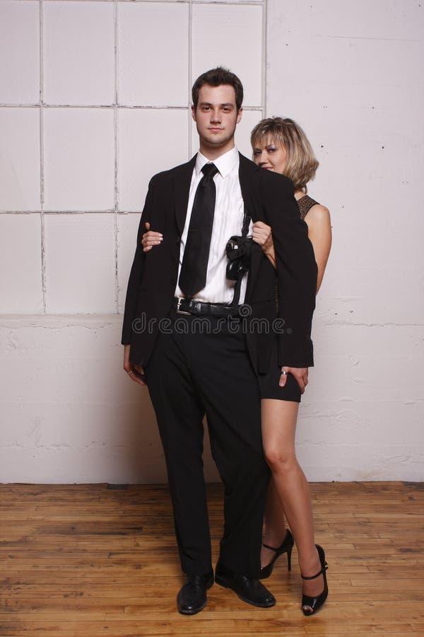 Homem mais novo com mulher madura imagens de stock