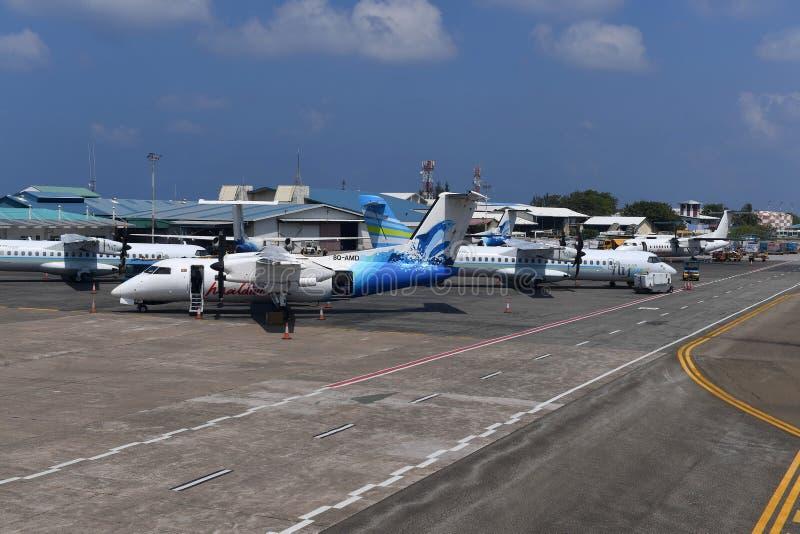 HOMEM, MALDIVAS - 11 de fevereiro de 2018 - aeroporto internacional masculino de maldives foto de stock