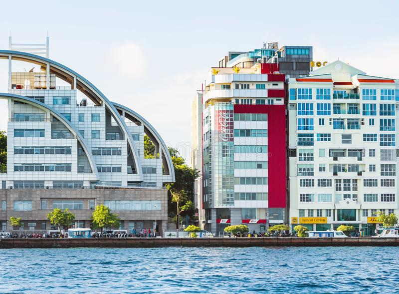 HOMEM, MALDIVAS - 18 DE NOVEMBRO DE 2016 imagem de stock