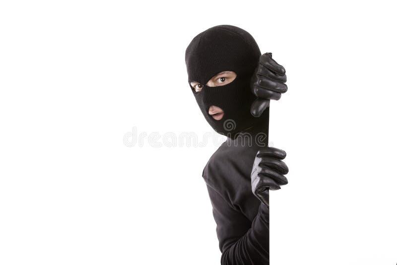 Homem mascarado fotografia de stock