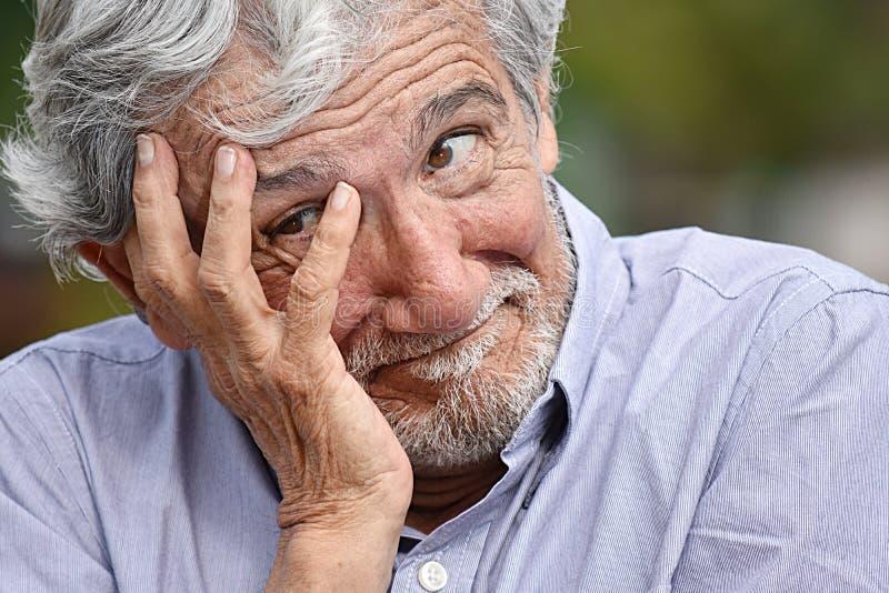 Homem masculino diverso deprimido fotografia de stock royalty free