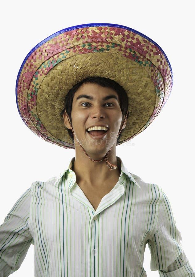 homem mexicano de sorriso fotografia de stock