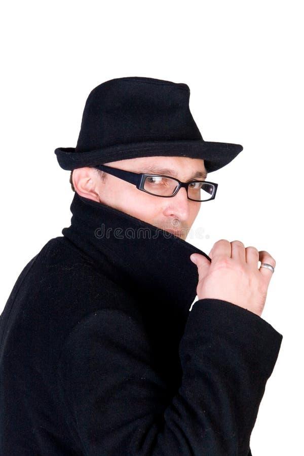 Homem misterioso fotografia de stock