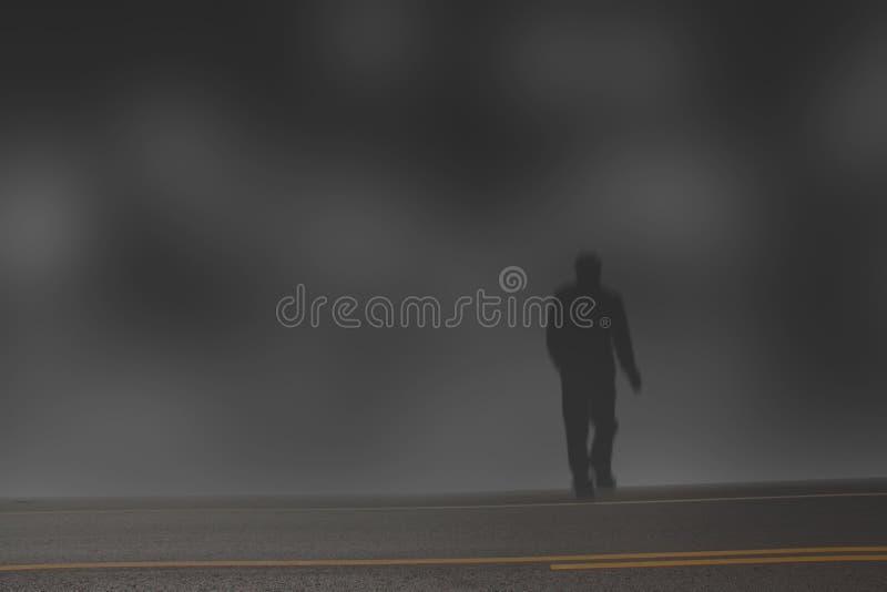 Homem misterioso ilustração do vetor