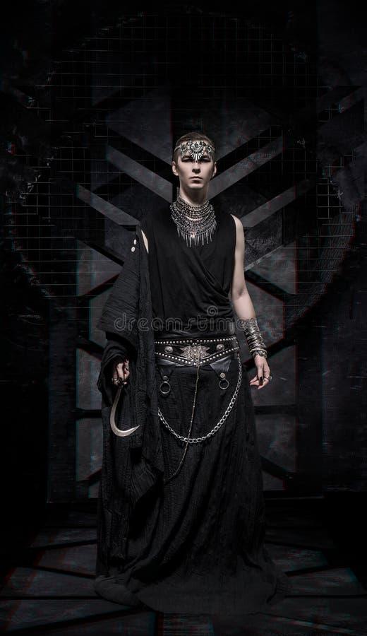 Homem modelo no traje da fantasia fotos de stock royalty free