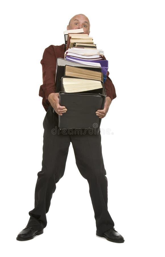 Homem movente do escritório foto de stock