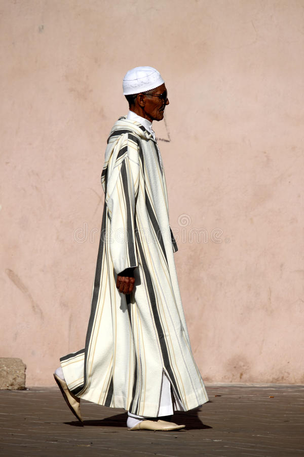 Homem muçulmano idoso fotos de stock royalty free