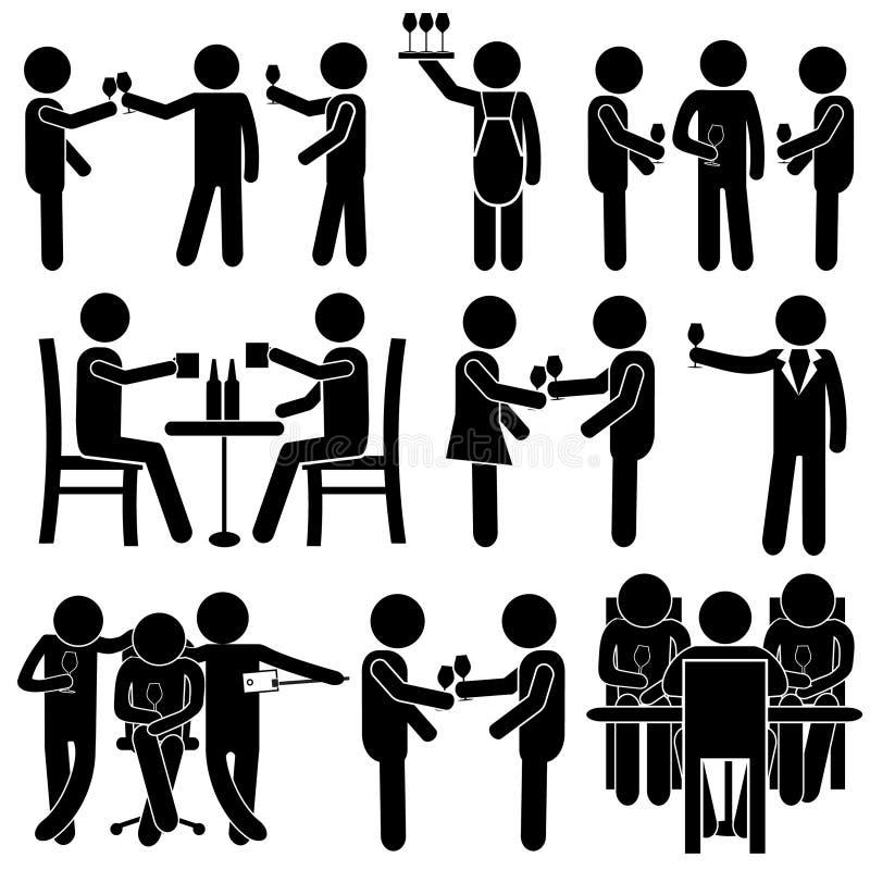 Homem & mulher da vara ilustração do vetor