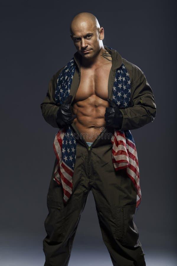 Homem muscular considerável fotografia de stock royalty free