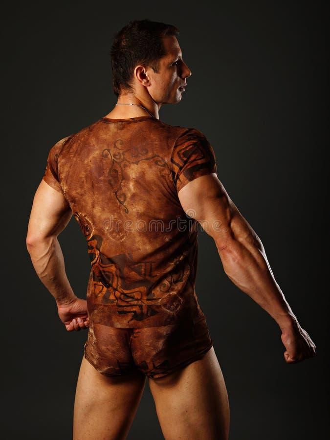 Homem muscular da parte traseira imagens de stock royalty free